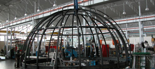 estructura para cúpula astronómica