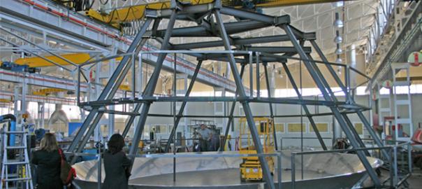 estructura interior de cúpula para cubierta