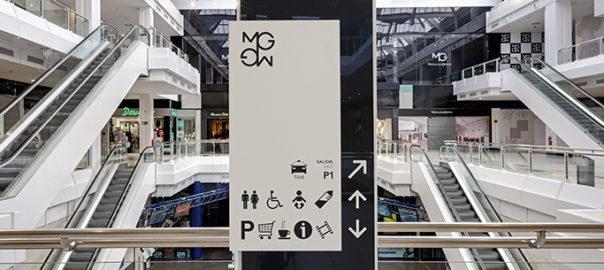 señalización de centro comercial