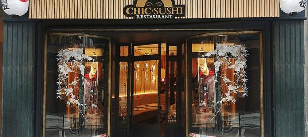 Rótulo Chic-Sushi restaurante