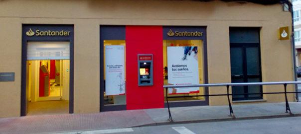 Rebranding oficinas banco santander